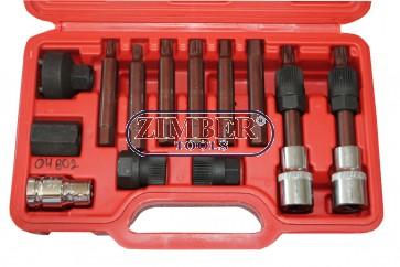 К-т ключове за демонтаж на шайбите на алтернатори 13 части (ZT-04802) - SMANN PROFESSIONAL