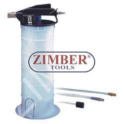 Комбинирана вакуум помпа (рьчна и пневматична) за масла и спирачна течност - ZIMBER