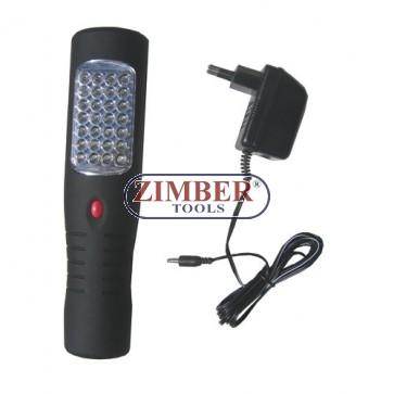 Подвижна диодна лампа-комбинирана 12v-220v 35 диода