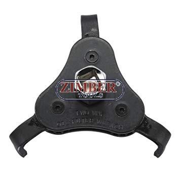 """Ключ за маслен филтър 2-посочен тип паяк (63-102mm)  3/8"""" към 1/2"""" - ZR-17OFW2W - ZIMBER -PROFESSIONAL"""