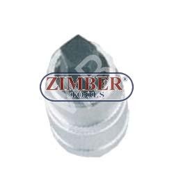 """Вложка с накрайник пентагон 10мм на 1/2"""" - ZIMBER"""