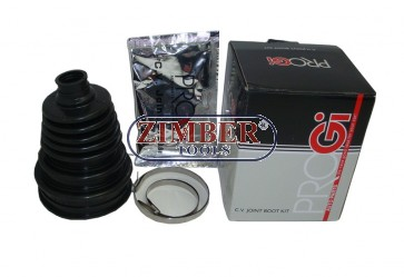 Универсален силиконов маншон за полуоски к-т с грес и скоби - ZIMBER PROFESSIONAL-ZR-36CVJBK