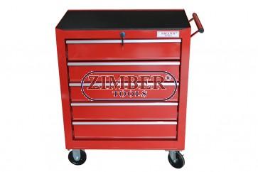 Инструментална количка (шкаф) с 5 отделения, ZT-01Y0112  - SMANN PROFESSIONAL