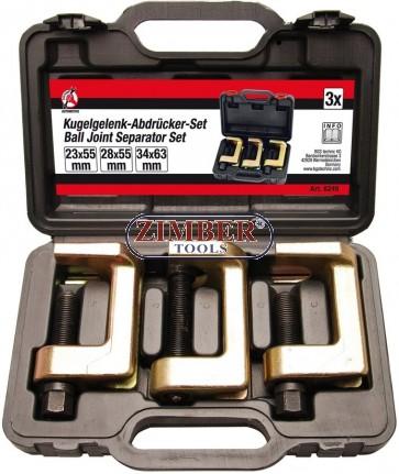 Скоби за шарнири  23- mm - 28 - 34 mm | к-т 3бр. (6249) - BGS - Kraftmann