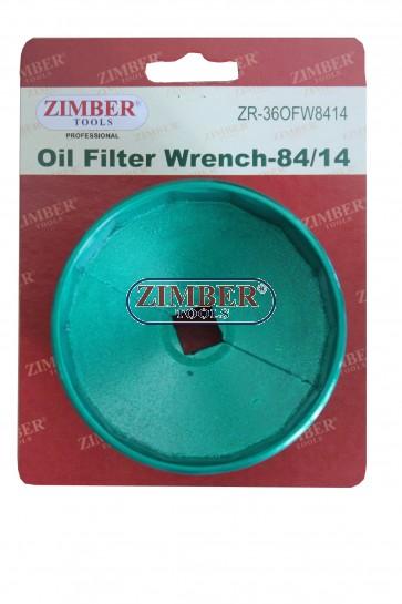 Чашка за маслен филтьр 84-mmм, 14- ъгли. Mercedes-Benz  - ZR-36OFW8414 - ZIMBER TOOLS.