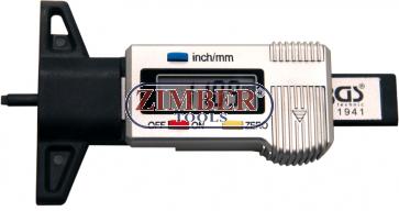 Дигитално устройство за измерване грайфера на гумите, 0 - 28 mm- 1941 - BGS technic.