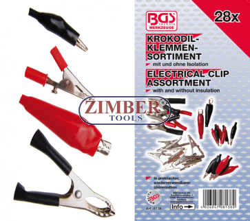 Щипки електрически к-т - 28 броя (8138) - BGS-PROFESSIONAL
