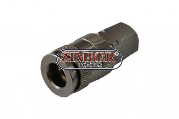 Накрайник за въздух 1/2 (Бърза връзка - Женски) Европейски тип, ZR-12AQCUEF12 - ZIMBER TOOLS.