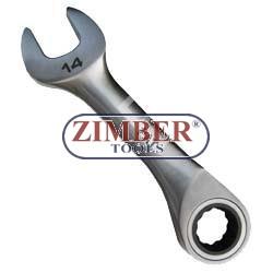 Ключ звездогаечен с тресчотка къс 11-mm. ZL-7203-11 - ZIMBER-PROFESSIONAL