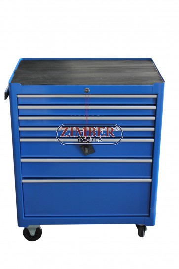 Инструментална количка 7 отделения,  к-т с инструменти. ZT-01Y0112-1.