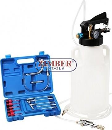 Пневматичeн двупосочен комплект за пълнене и изсмукване на масло в скоростна кутия  ATF / 8L , ZT-04B1091- SMANN PROFESSIONAL.