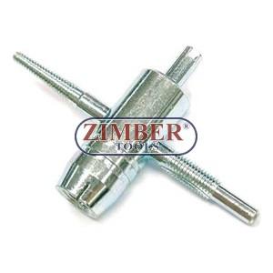 Инструмент за ремонт на вентили на гуми - ZIMBER - PROFESSIONAL