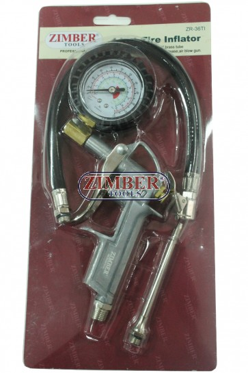 Манометър за гуми 4 в 1от 0-15- bar,ZR-36TI - ZIMBER-PROFESSIONAL