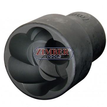 "Вложка екстрактор за отвиване на повредени болтове и гайки 1/2""Dr. 16mm,  ZR-41PTSS1216- ZIMBER TOOLS"