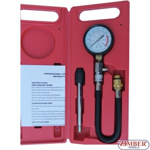 Компресомер за измерване на компресия за бензинови двигатели -  ZSR-1233