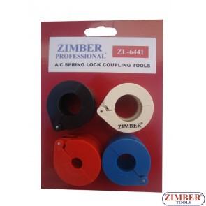 К-т скоби за разглобяване на бързи връзки 4 части - ZIMBER - PROFESSIONAL