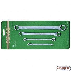 Ключове звезди к-т 4 бр - E6xE8; E10xE12; E14xE18; E20xE24 -  FORCE.