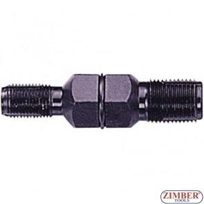 Метчик за възстановяване на резби на свещи - двустранен 14mm и 18mm - ZL-6072 - ZIMBER-TOOLS.