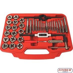 Метчици и плашки к-т 40 части -ZR-36TDS40- ZIMBER PROFESSIONAL