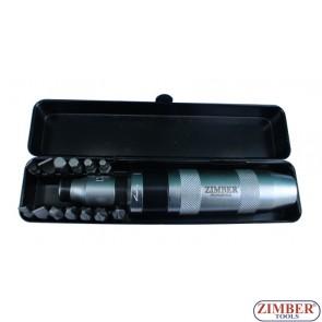 Отвертка ударна с накрайници к-т 13 части (ZR-14ID121301) - ZIMBER-PROFESSIONAL