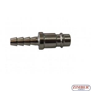 """Накрайник за въздух 1/4"""" (бърза връзка) Европейски тип - ZR-12APOH1401 - ZIMBER TOOLS"""