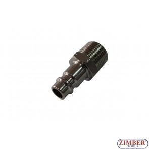 """Накрайник за въздух 3/8"""" (бърза връзка) Европейски тип - ZR-12APOM3801 - ZIMBER TOOLS"""