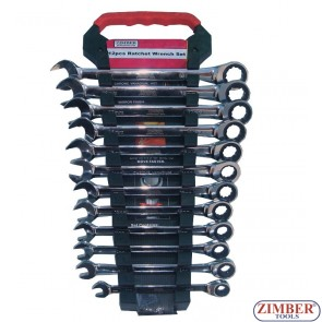 Ключoвe звездогаечни с тресчотка 72 зъба к-т 12 части , ZR-17RWS12V02- ZIMBER-TOOLS