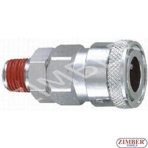 """Накрайник за въздух 1/4"""" ZDC-2 - ZIMBER"""