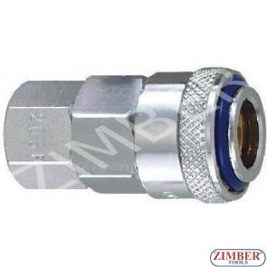 """Накрайник за въздух 1/4"""" ZDC-2 стомана , ZL-20SFT - ZIMBER PROFESSIONAL"""