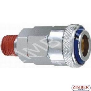 """Накрайник за въздух 3/8"""" стомана - ZIMBER"""