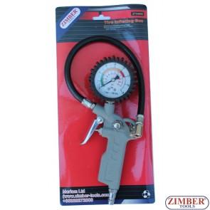 Манометър за гуми ZT-04690- ZIMBER-TOOLS