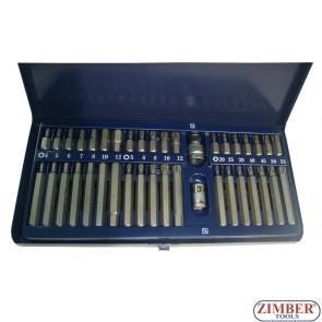 Битове накрайници к-т 40 части -  ZR-14BS40 - ZIMBER PROFESSIONAL