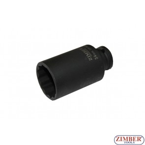 """34mm 1/2""""Dr. Shaft Deep Air Impact Socket - 12PT, (ZR-08DAIS434M) - ZIMBER TOOLS"""