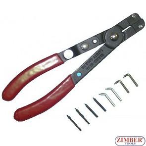 Зегер клещи комбинирани със сменяеми накрайници -(ZR-36SRPCIE) ZIMBER PROFESSIONAL