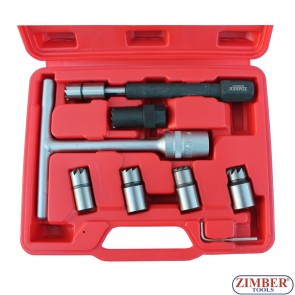 К-т за почистване леглата на дизелови дюзи - 8 части ZR-36DISCS5 - ZIMBER-TOOLS.