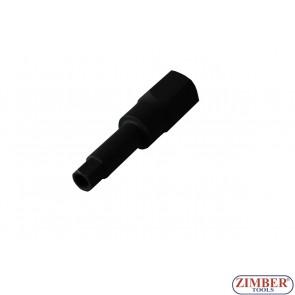 """Шестограм с дупка на вложка 10-mm за демонтиране на инжектори  Bosch  1/2"""", ZR-15HBS1210 ZIMBER - PROFESSIONAL"""