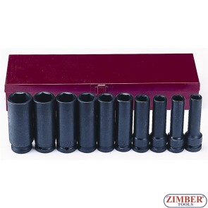 "Flank impact deep socket set 10pc 1/2""- 4107 - FORCE."