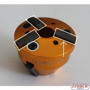 Резервен райбер  (нож) от фреза за легла на клапани 37mm-46mm 60° and 45°,Size: 5.8 x 15 -1бр - ZR-41VRST100301 - ZIMBER TOOLS