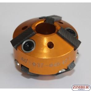 Фреза за леглата на клапани 37-mm-46-mm 60° и 45° (резервна част от к-т: ZR-36VRST, ZR-36VRST10) - ZIMBER-PROFESSIONAL