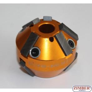 Фреза за леглата на клапани 46mm-60mm 45°и 30° (резервна част от к-т: ZR-36VRST, ZR-36VRST10) - ZIMBER-TOOLS.