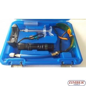 К-т за откриване на течове от климатичната инсталация с UV лампа- ZT-04D1015 - SMANN TOOLS.