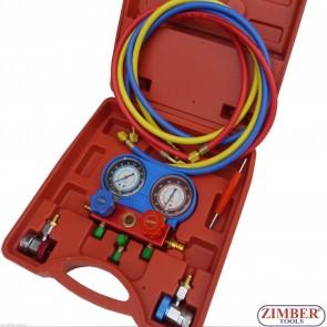 Манометричен блок  двоен за климатици - ZK-365