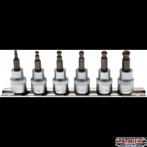 """К-т накрайници на вложки с топче (3/8"""")  3-mm - 8 mm, 7 -бр. (5109) - BGS-PROFESSIONAL"""