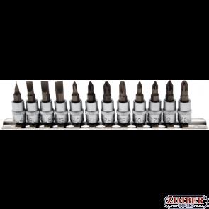 """К-т накрайници на вложки SL/ PH/PZ- 1/4"""" -12 бр -2163  - BGS-PROFESSIONAL"""