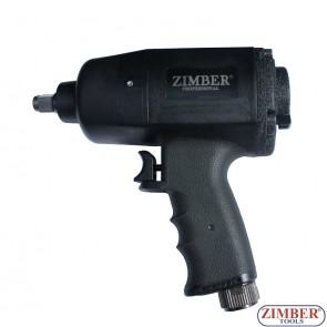 """Гайковерт пневматичен 1/2""""-1090-Nm. ZR-11IWCTH12 - ZIMBER-TOOLS."""