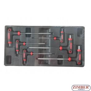 Шестограми г-образни с топче к-т 6ч - ZT-00806 - SMANN TOOLS.