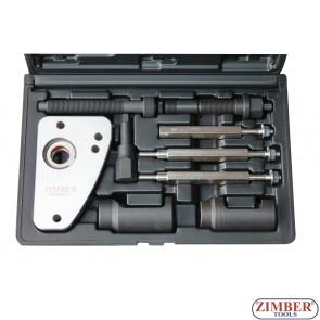 К-т за изваждане на инжектори PSA 2.0 HDI Peugeot, Citroen и PSA 2.0 JTD Fiat, Lancia- ZR-36ETTS128 - ZIMBER-TOOLS