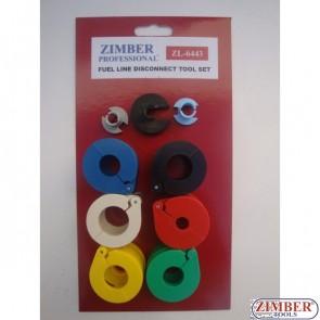 К-т скоби за разглобяване на бързи връзки 9 части (ZL-6443) - ZIMBER