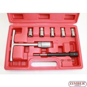 К-т за почистване леглата на дизелови дюзи - 7 части,  ZT-04777 - SMANN-PROFESSIONAL