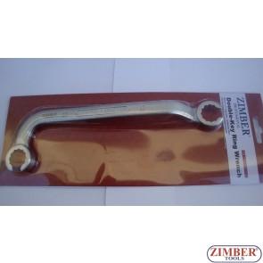 Ключ за инжекторни тръбички за HDI двигатели 14mm - ZR-36DILW - ZIMBER - PROFESSIONAL